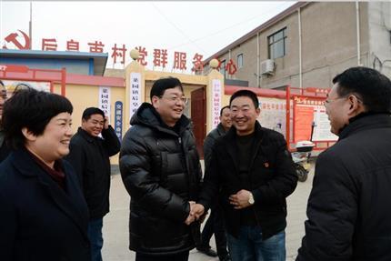 张明超带队赴后皇甫村进行春节慰问